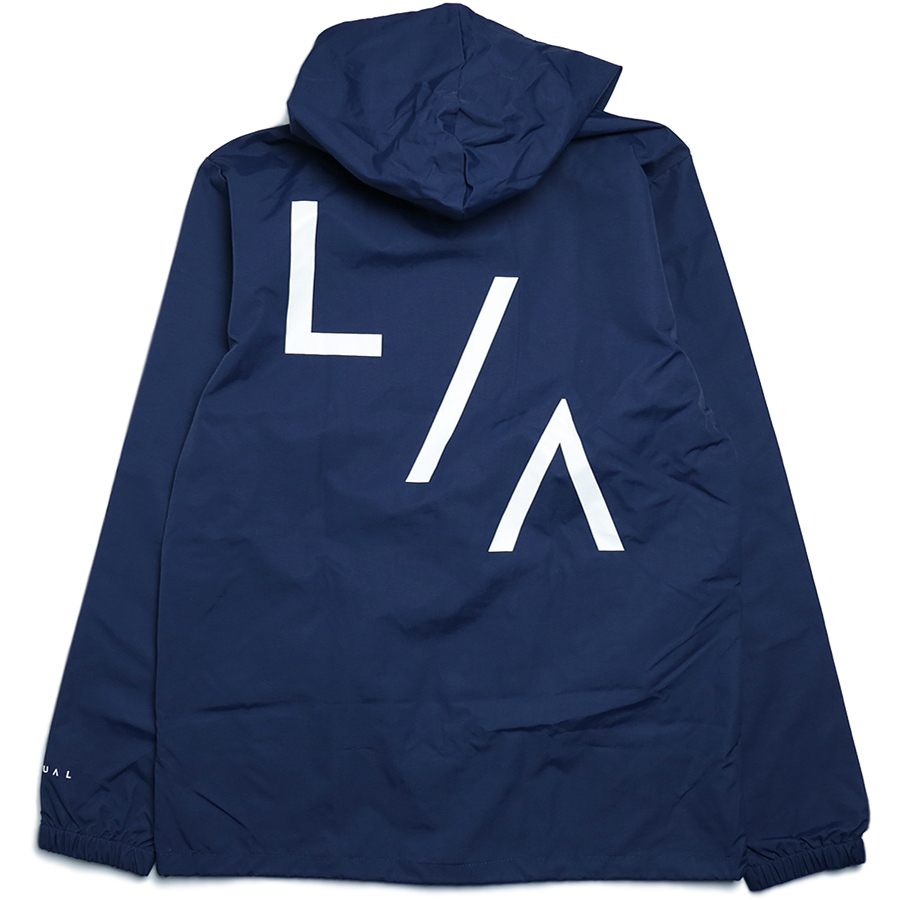 VISUAL Apparel / HOLIDAY 2016 LA HOODED COACHES JACKET color : Navy