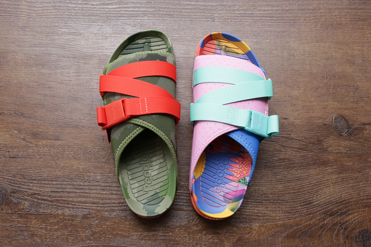 POLeR x People Footwear Collaborative Sandals JUNK FOOD & CAMO