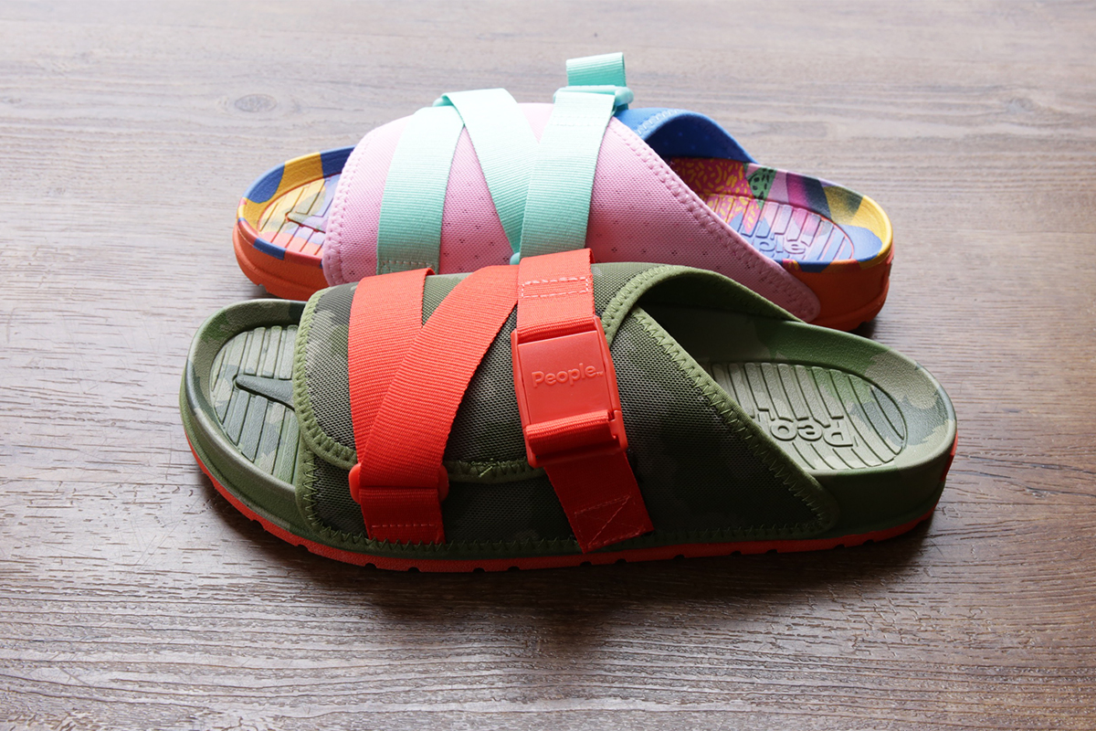 POLeR x People Footwear Collaborative Sandals JUNK FOOD & CAMO