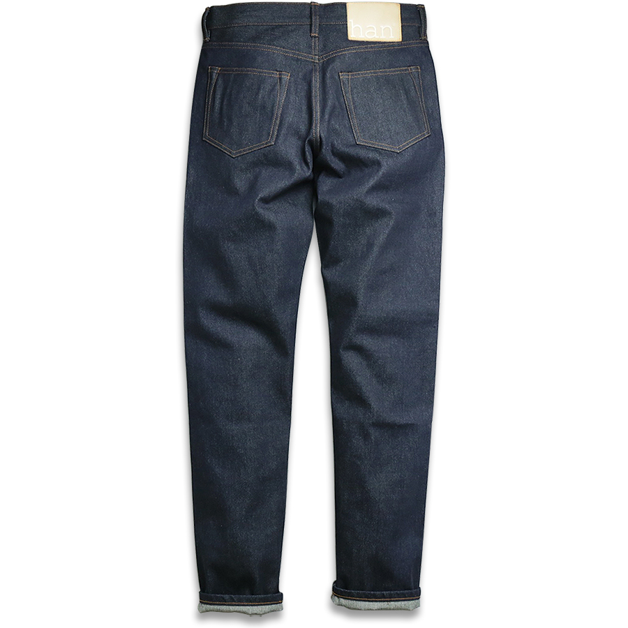 Han Kjobenhavn / TAPERED JEANSDark Blue Raw Unwashed  back