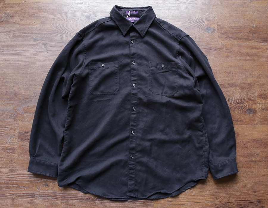 wax clothing USED / 「J.ASHFORD」FAUX SUEDE SHIRT