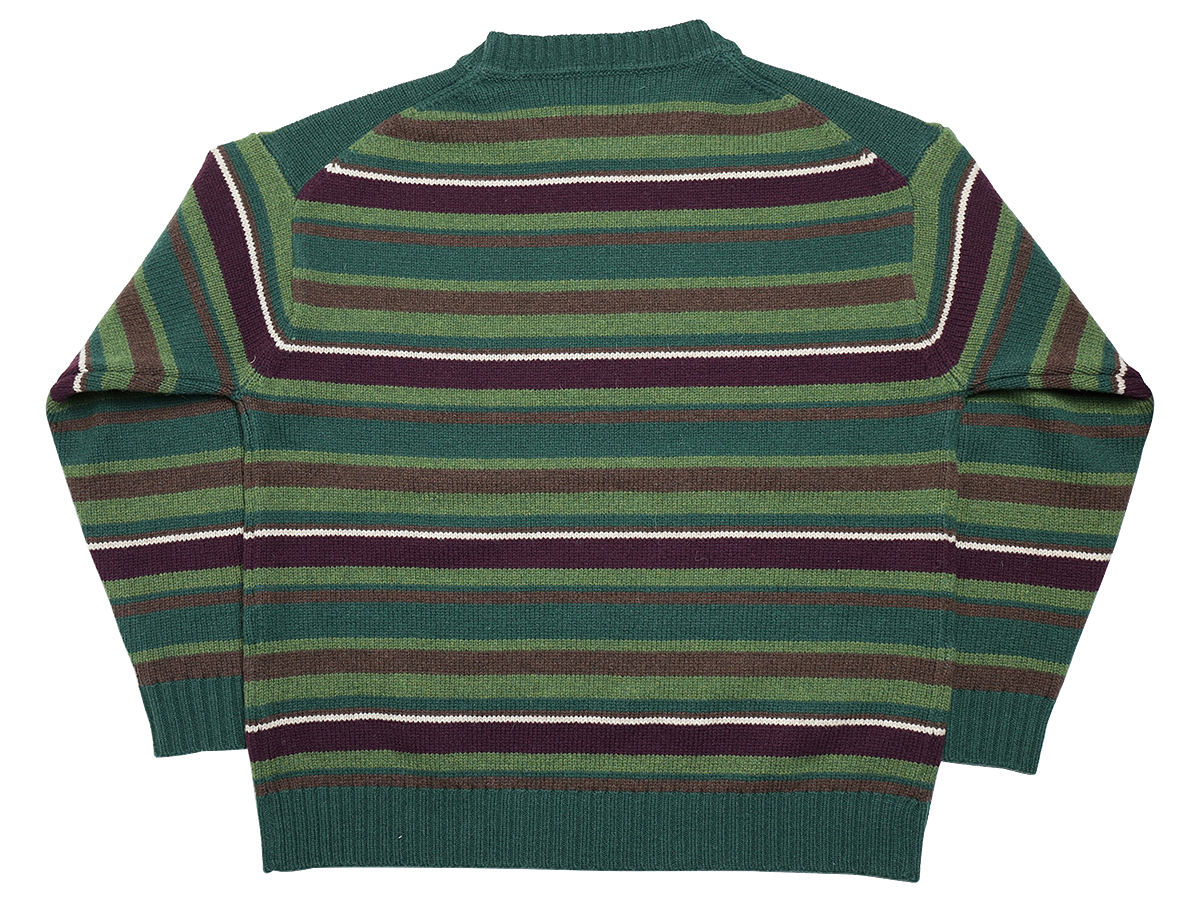 GOOFY CREATION LAMBS WOOL BORDER KNIT color : Green
