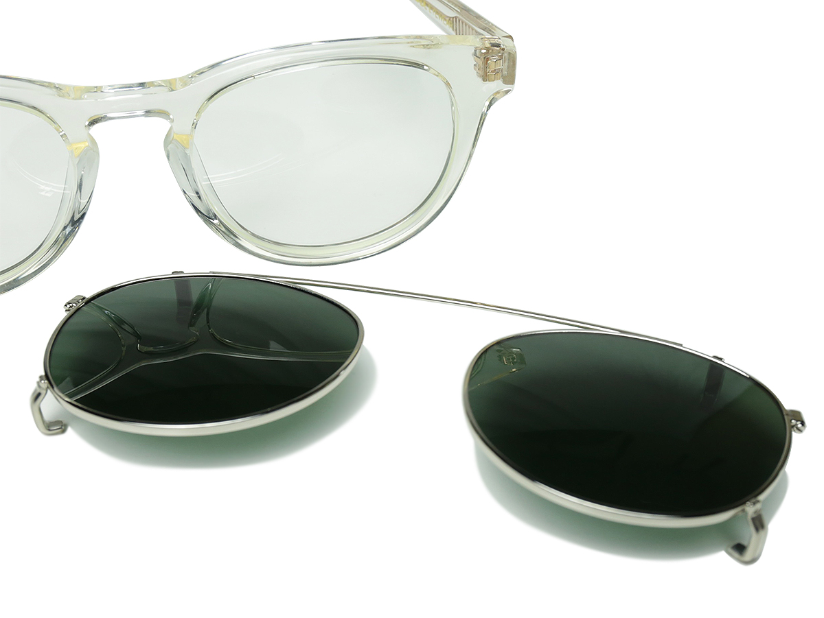 "Han Kjobenhavn / TIMELESS ""CLIP-ON"" - CHAMPAGNE × SUN (GREEN)"