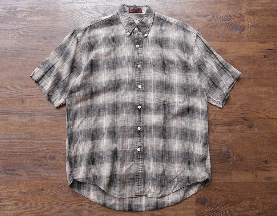 wax clothing USED / SS CHECK SHIRTS