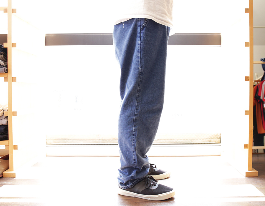 wax clothing snap / DENIM EASY PANTS