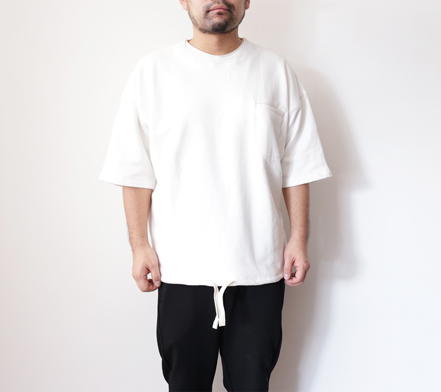 Snap / ENZYME WASH SS CREW – White
