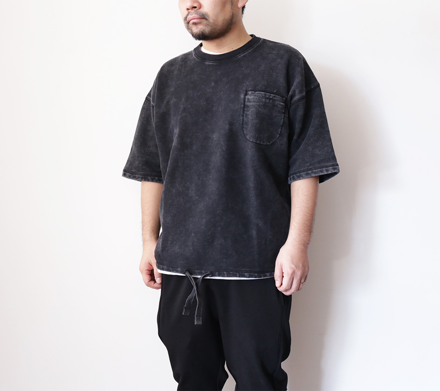 Snap / ENZYME WASH SS CREW – Black