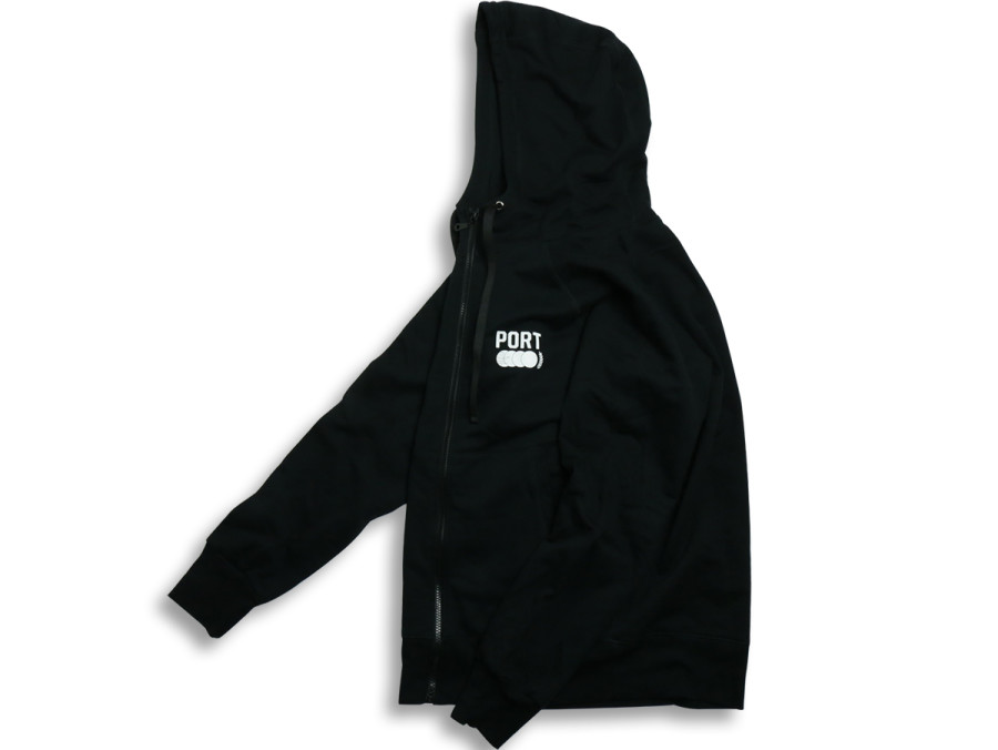 PORT SPORT ZIP UP - Black