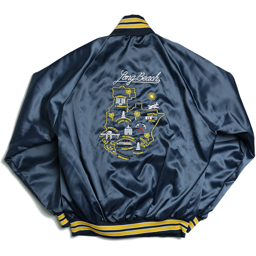 PORT LBC 2016 SUMMER COLLECTION BOMBER SOUVENIER JACKET color : Navy