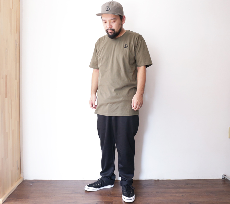 PORT LBC 2016 SUMMER COLLECTION OIL PLAM EMBROIDERY TEE color : Army