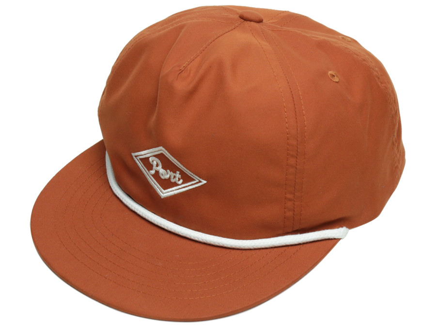 PORT LBC DIAMOND NYLON CAP - Rust