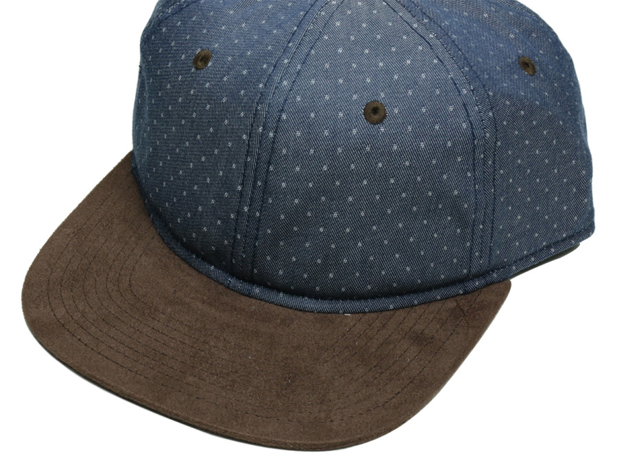 PORT LBC HENDERSON DOBBIE CAP - Denim/Dot/Brown