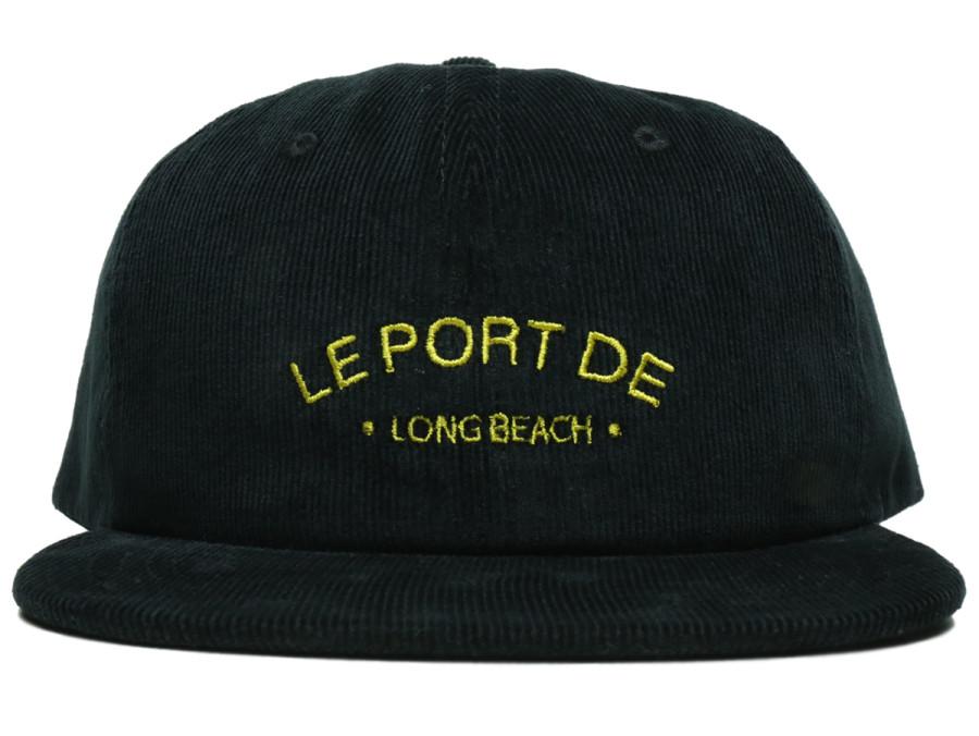 PORT LBC / Le PORT CORDUROY CAP - Black