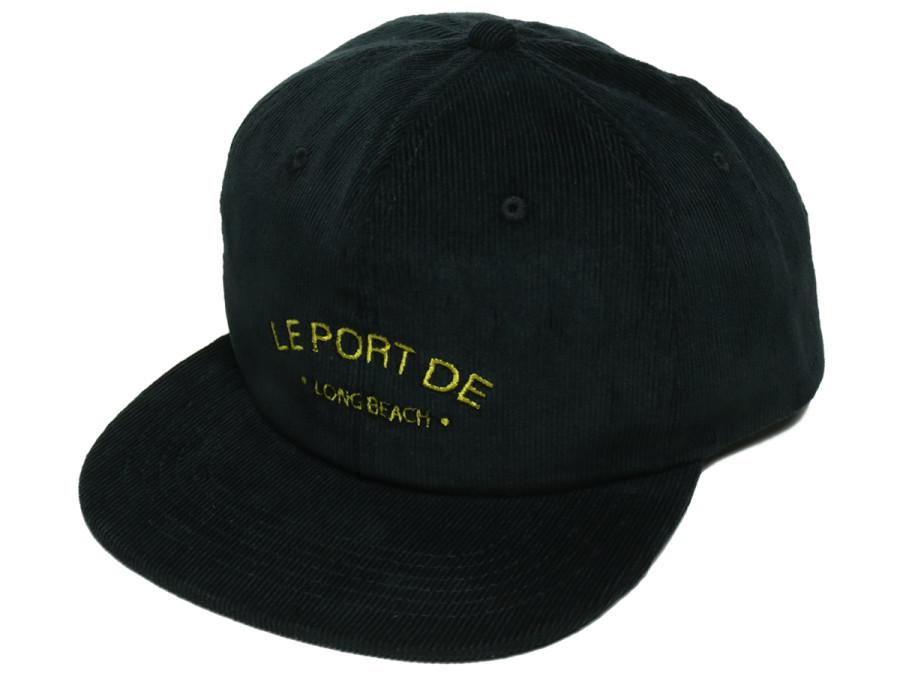 PORT LBC / Le PORT CORDUROY CAP - Black U