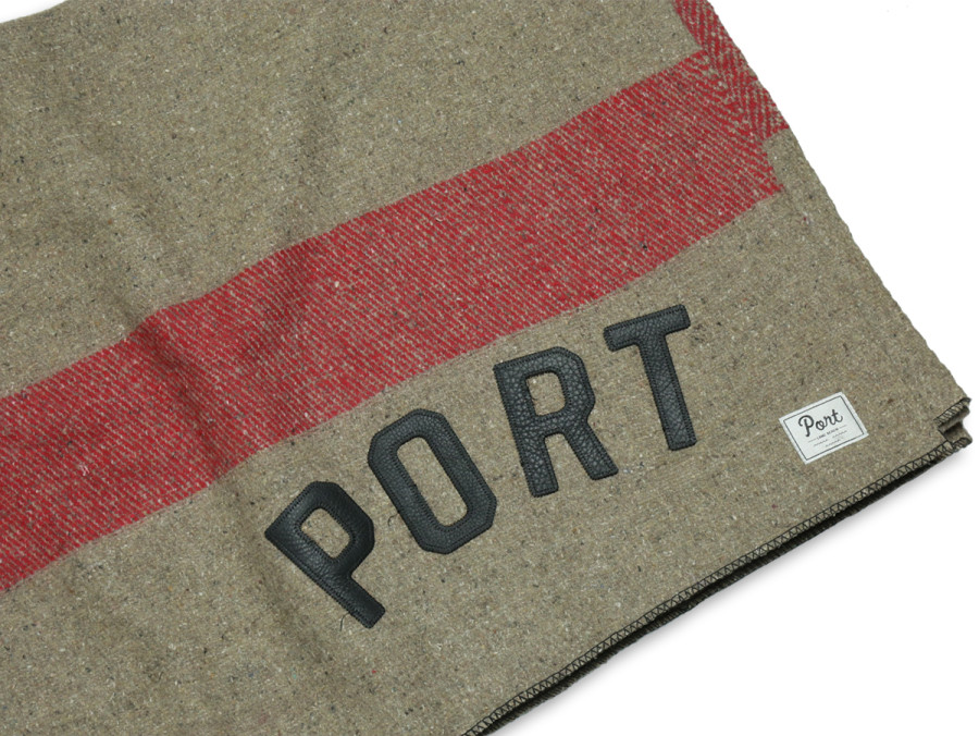 PORT LBC WOOL BLANKET - Red/Brown
