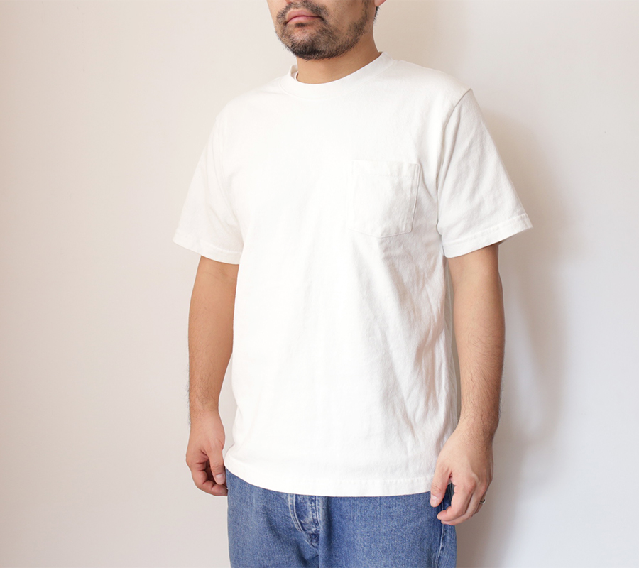 Snap / Velva Sheen / HEAVY OZ POCKET TEE - White