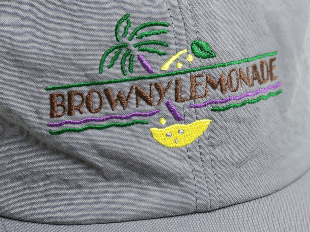 GOOFY CREATION  BROWNY LEMONADE 6 PANEL  color : Charcoal