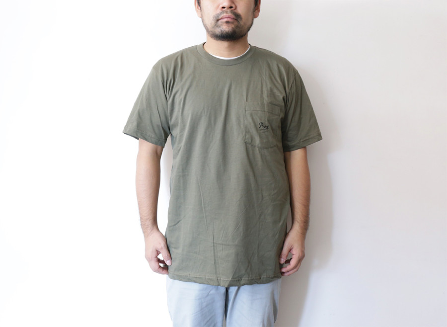PORT ISSUED POCKET TEE Olive