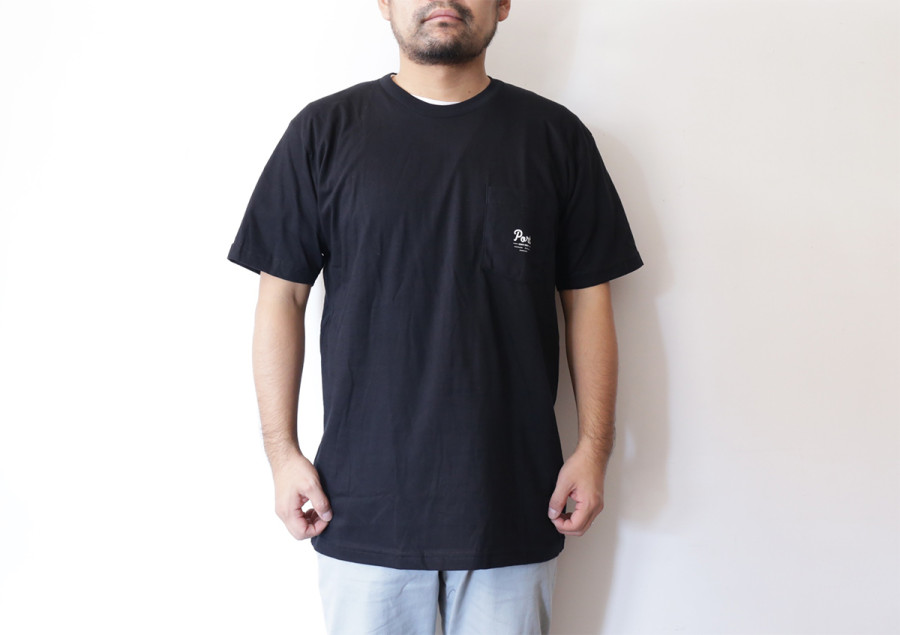 PORT ISSUED POCKET TEE - Black