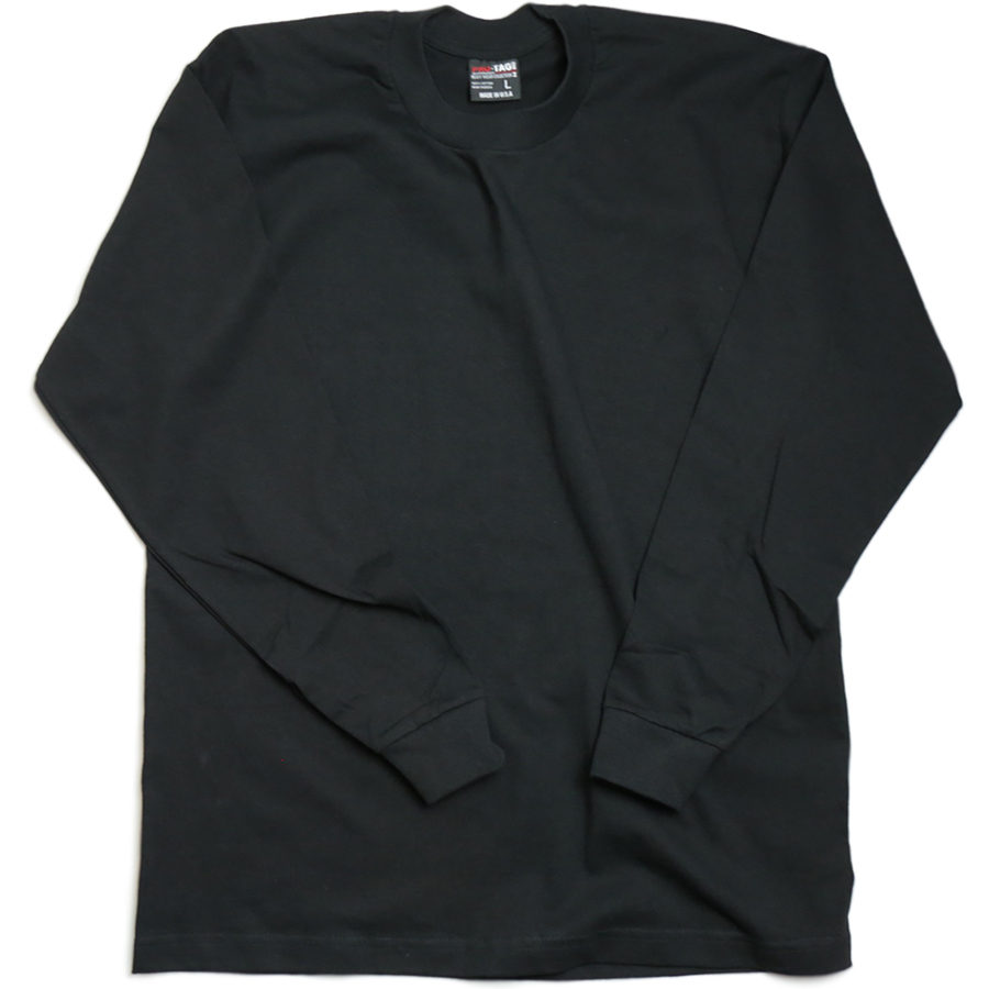 PRO-TAG / HEAVY WEIGHT LONG SLEEVE T - Black