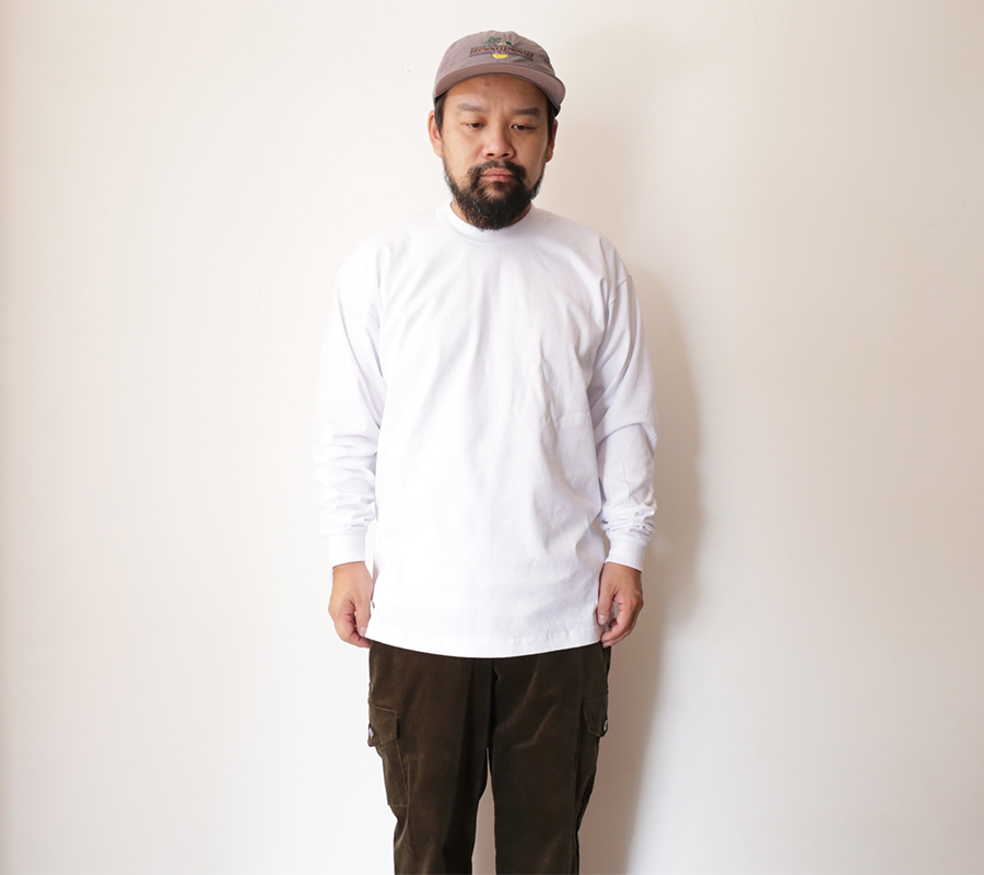 NonWash PRO-TAG / HEAVY WEIGHT LONG SLEEVE T - White L