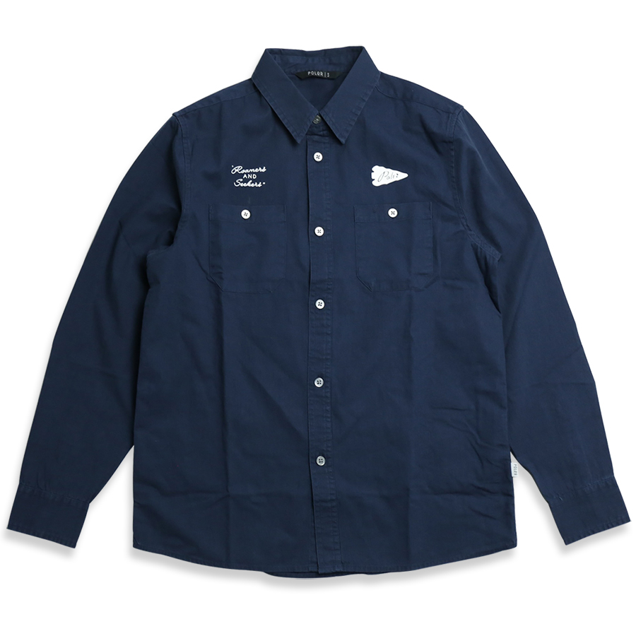 POLeR OUTDOOR STUFF SPRING 16 COLLECTION YAKOW LONG SLV BUTTON UP color : Blue Steel