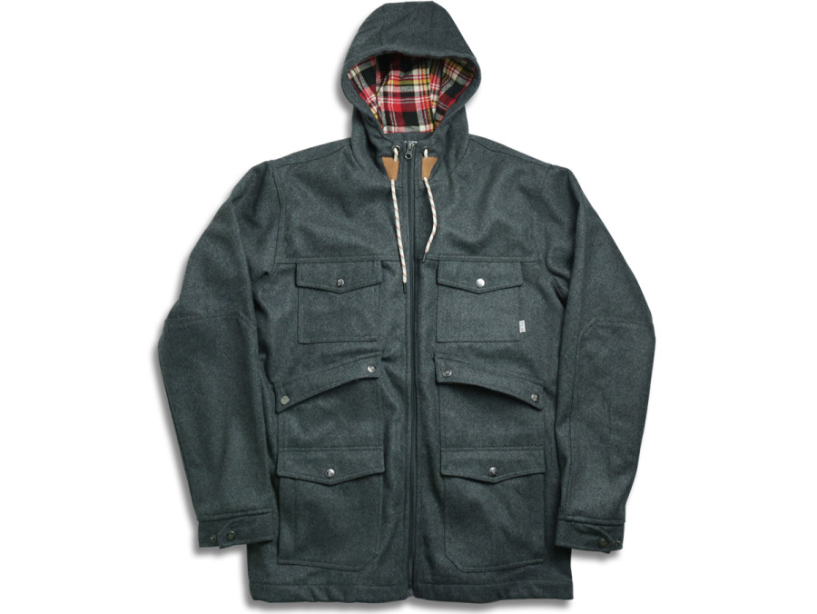 OUTPOST WOOL JACKET - Grey