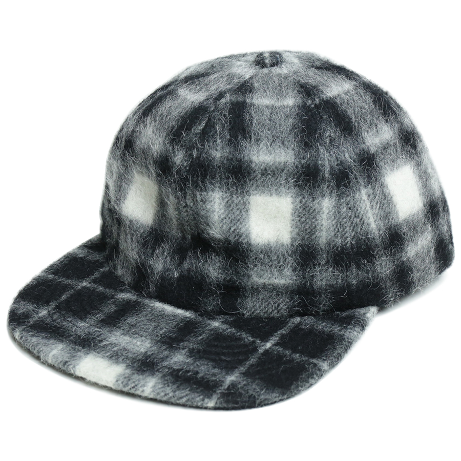 MAIDEN NOIR AUTUMN 2016 WOOL BALL CAP color : Black Plaid
