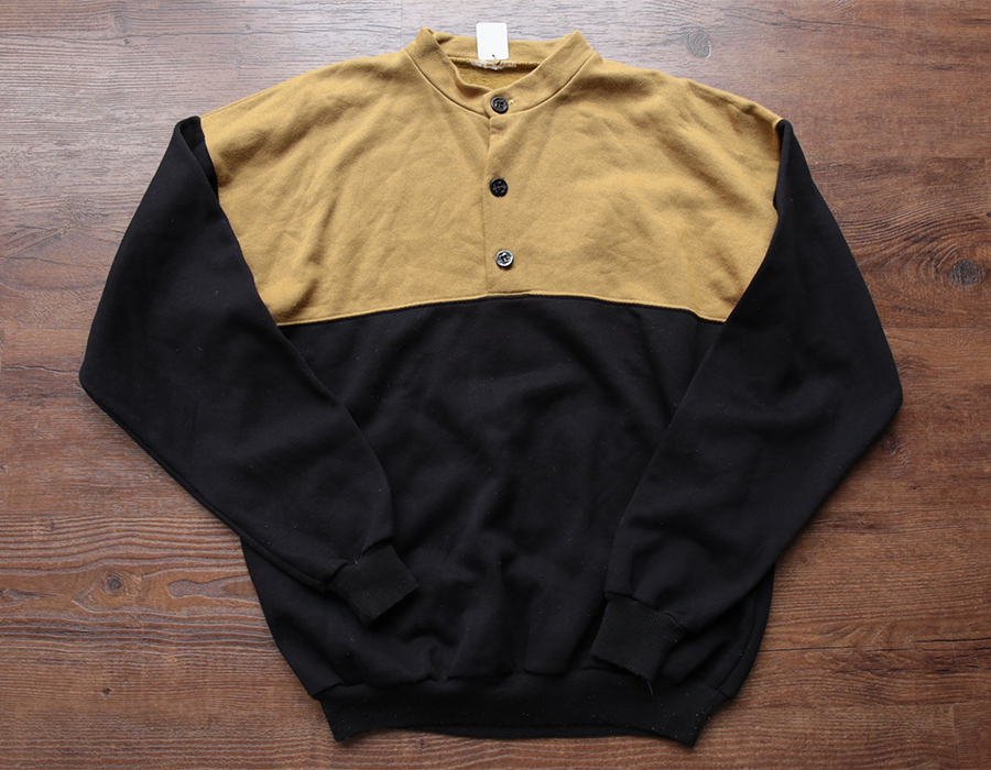 USED 2TONE HENRYNECK SWEAT