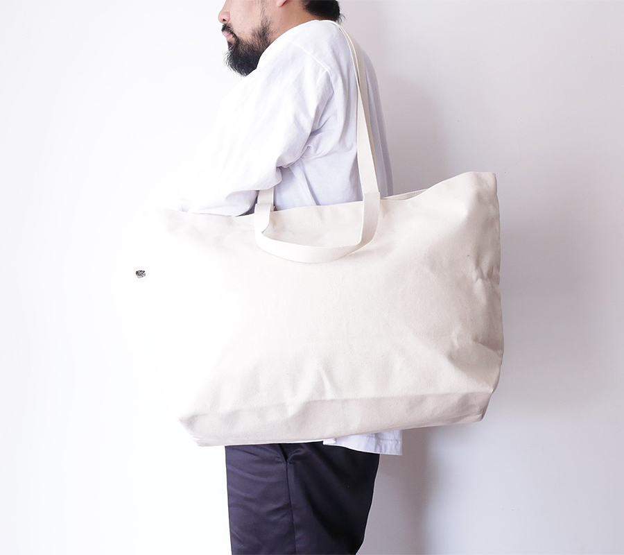 BLK PINE workshop FALL/WINTER 2016 SIMPLE CANVAS TOTE BAG color : Natural