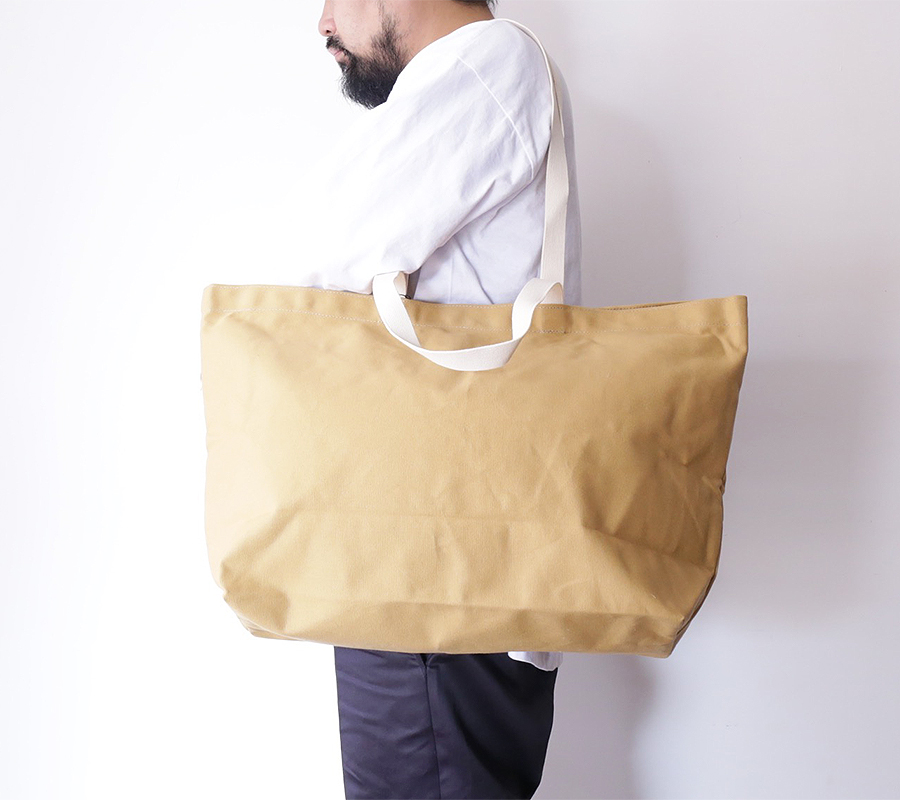 BLK PINE workshop FALL/WINTER 2016 SIMPLE CANVAS TOTE BAG color : Tan