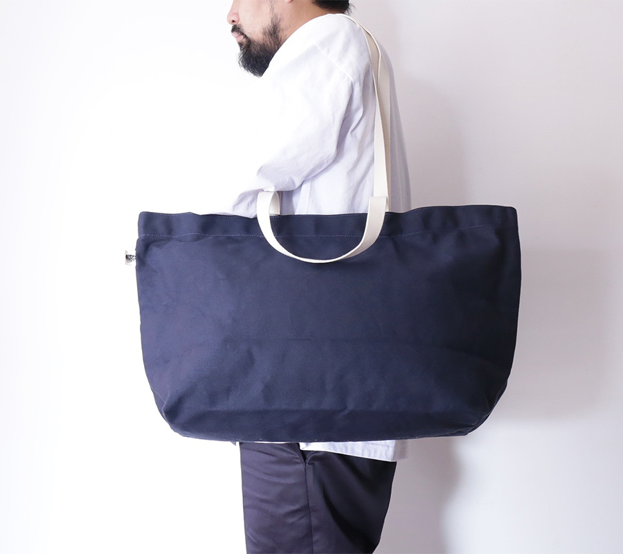 BLK PINE workshop FALL/WINTER 2016 SIMPLE CANVAS TOTE BAG color : Navy