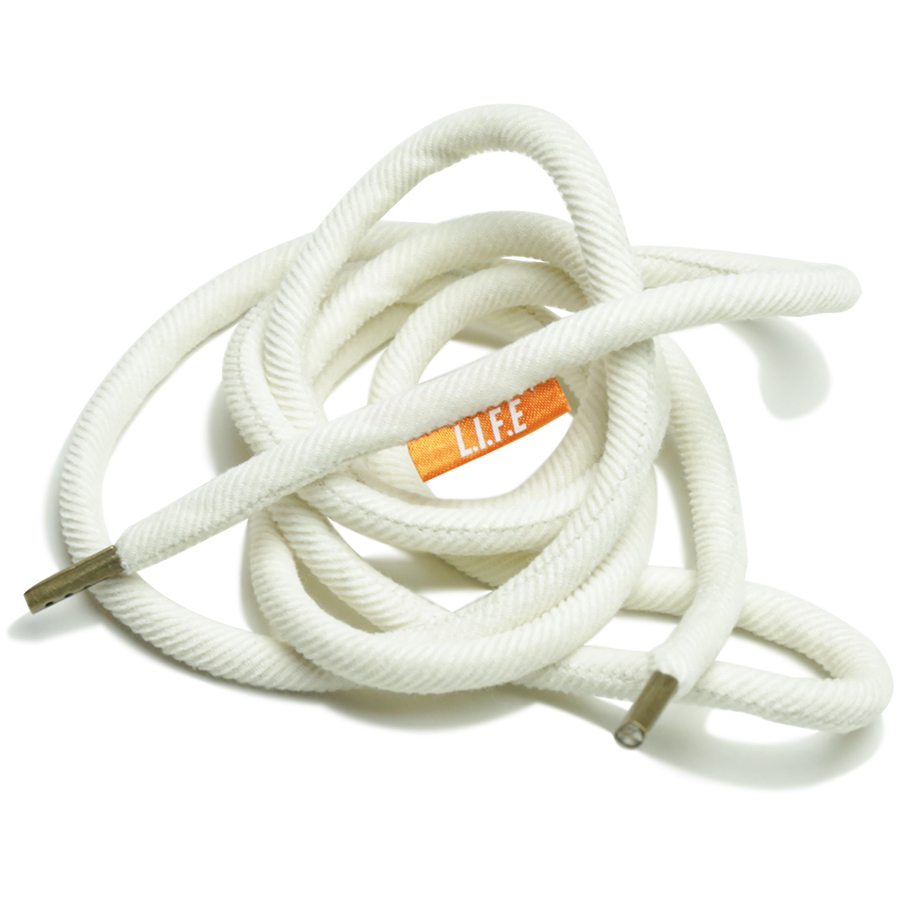 """L.I.F.E (LIVE IN FAB EARTH) SPRING & SUMMER 2016 Shoelace belt """"NOR"""" color : White"""