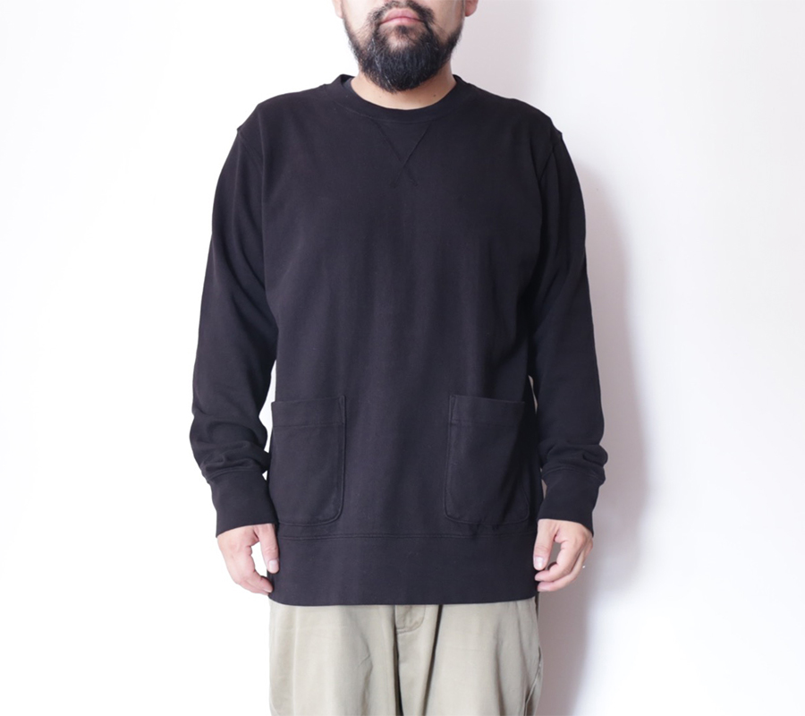 Velva Sheen AUTUMN 16 COLLECTION 8oz JERSEY CREWNECK SWEAT color : Black