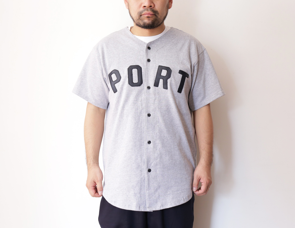 PORT LBC 2016 SPRING/SUMMER COLLECTION THIK KNIT BBALL JERSEY color : Heather Grey