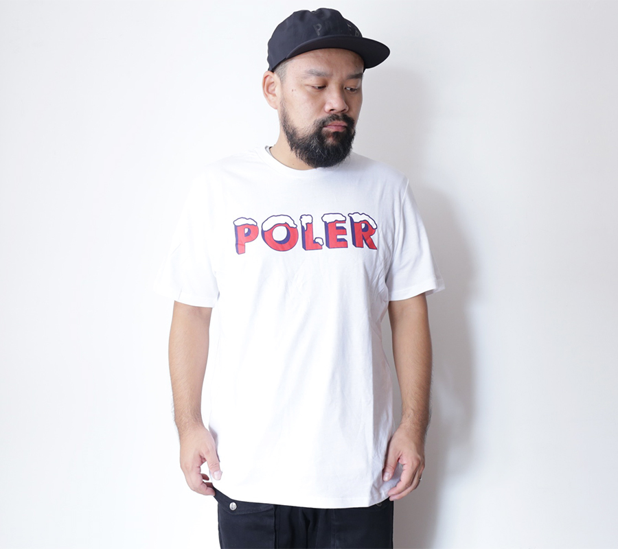 SNAP / POLeR OUTDOOR STUFF  FALL 16 COLLECTION  FROZEN TEE  color : White