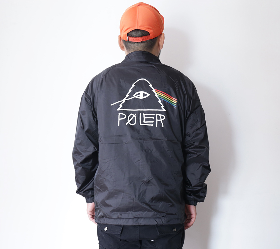 SNAP /POLeR OUTDOOR STUFF  FALL 16 COLLECTION  PSYCHEDELIC COACH JACKET  color : Black