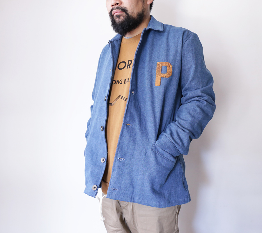 PORT LBC FALL 2016 COLLECTION MILLER COAT  color : Blue Denim LE PORT CREW  color : Gold