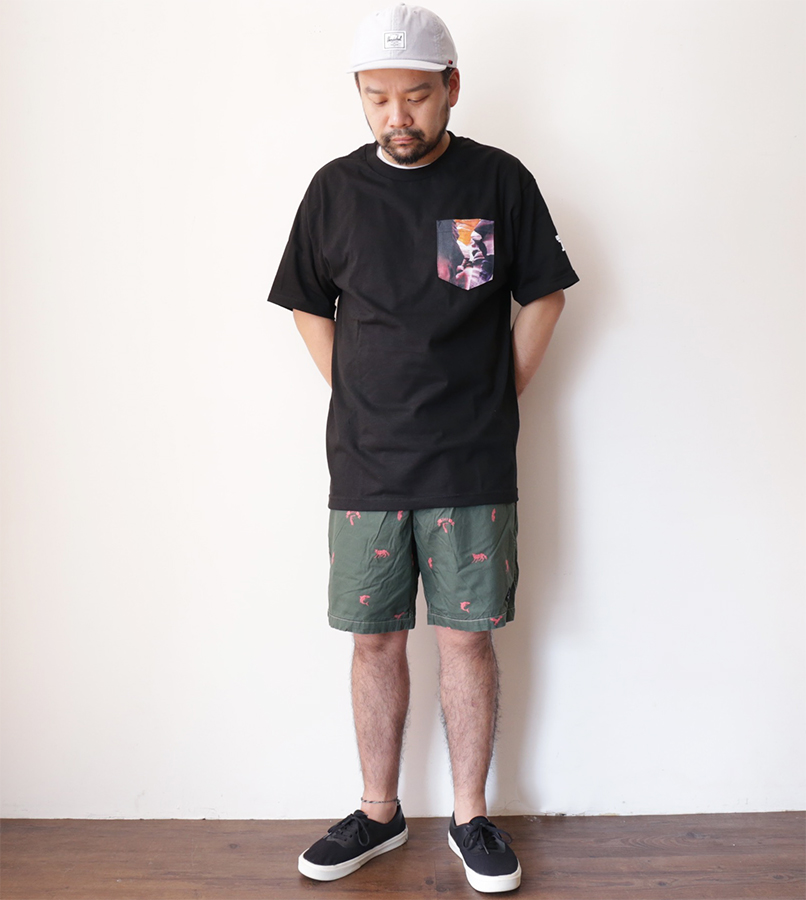 VISUAL Apparel / SPRING 2016 V/SUAL X Evidence / Den Pocket Tee - Black