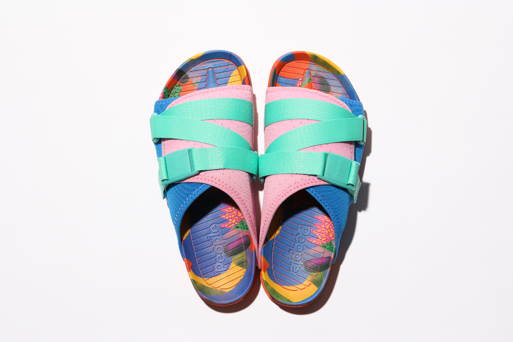 Poler x People Footwear Collaborative Sandals THE LENNON CHILLER-BLUE/PINK/MINT(JUNK FOOD)
