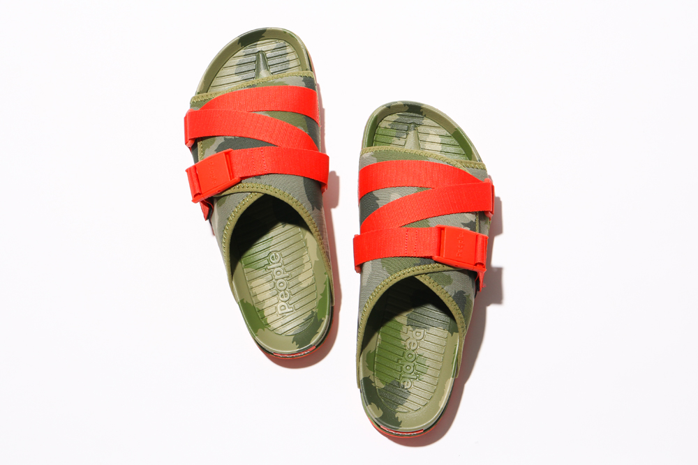 Poler x People Footwear Collaborative Sandals THE LENNON CHILLER-CAMO/RED
