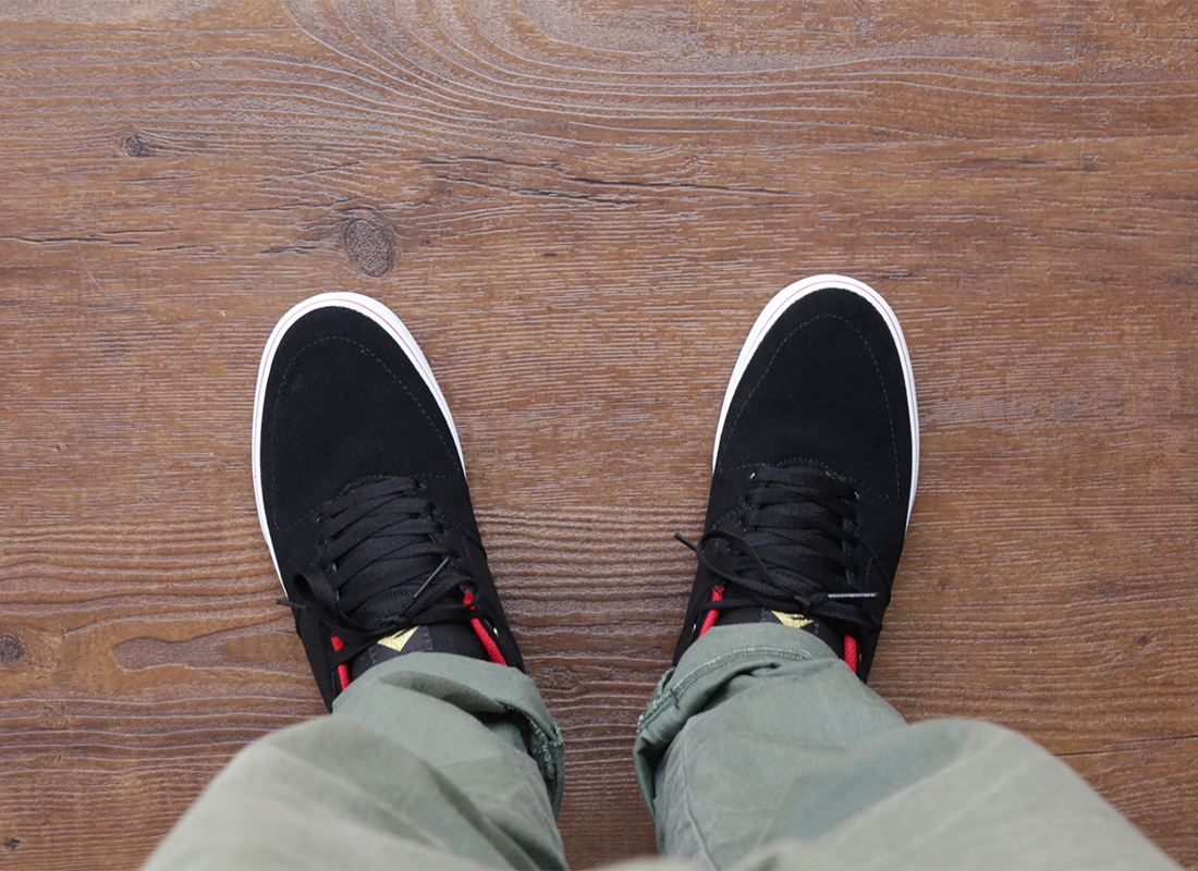 EMERICA / HSU LOW VULC X CHOCOLATE - Black/Red/White