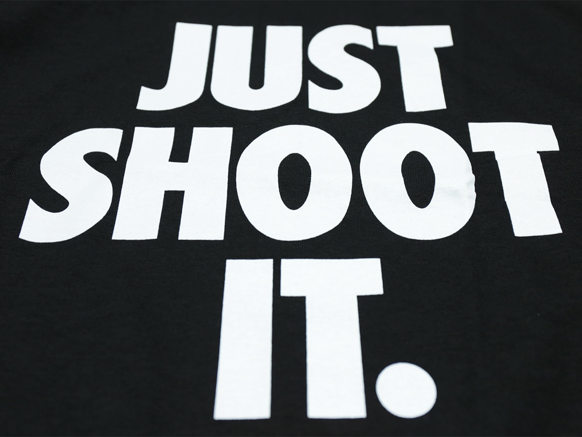 VISUAL Apparel / FALL 2016 JUST SHOOT IT TEE color : Black
