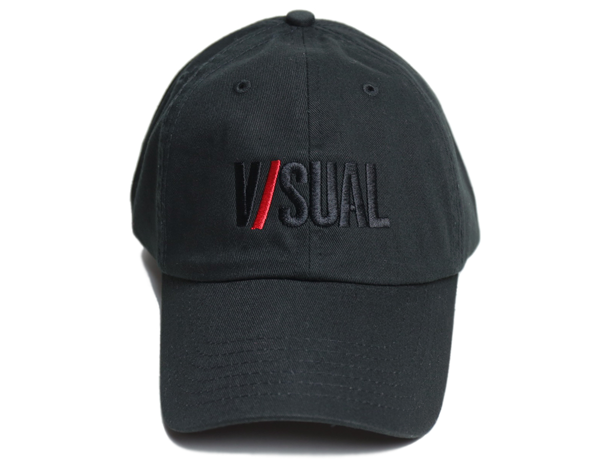 VISUAL Apparel / FALL 2016  TWO TONE LOGO UNSTRUCTURED HAT  color : Black