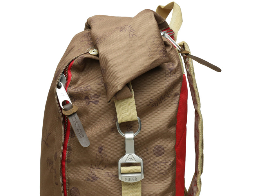 THE HOLIDAY ROLLTOP Campalogue Bison/Bright Red 3