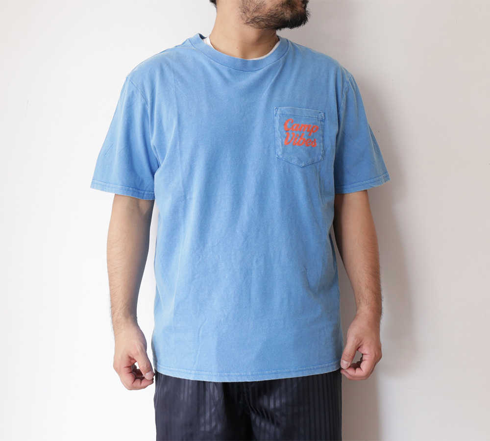 POLeR OUTDOOR STUFF SPRING 16 COLLECTION CAMPVIBES POCKET TEE color : Daphne Acid