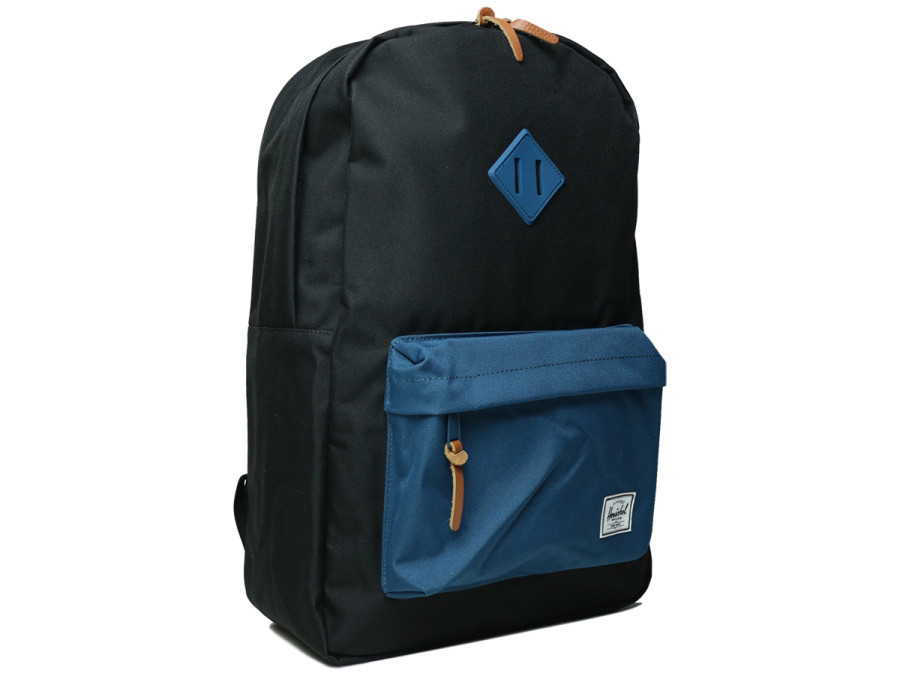 HERITAGE BACKPACK - Black/Ink Blue Rubber