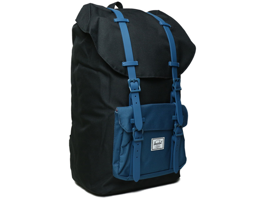 LITTLE AMERICA BACKPACK - Black/Ink Blue Rubber