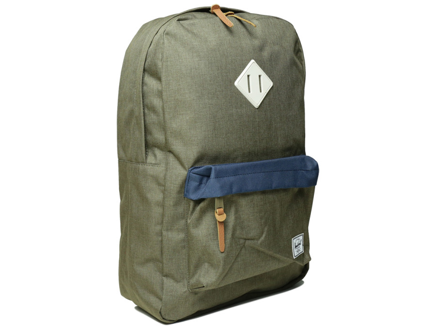 HERITAGE BACKPACK - Beech Crosshatch/Navy/Natural Rubber