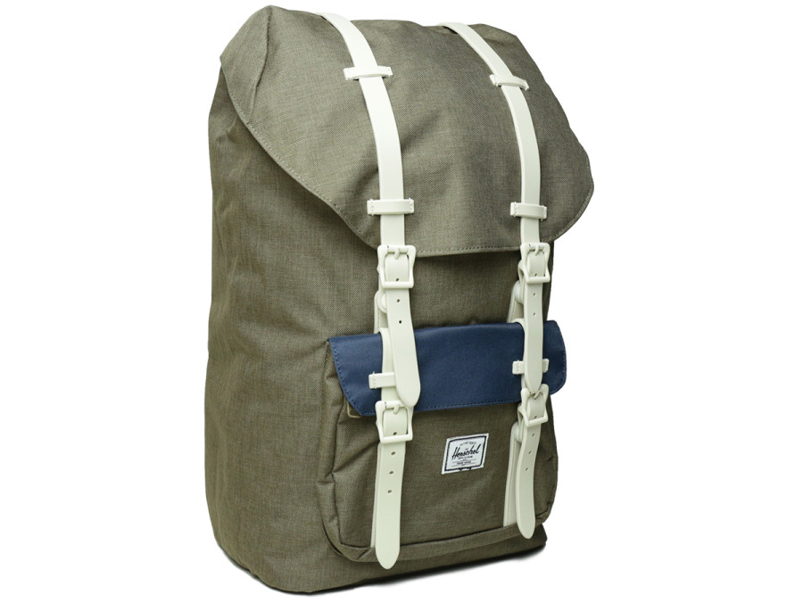 LITTLE AMERICA BACKPACK - Beech Crosshatch/Navy/Natural Rubber